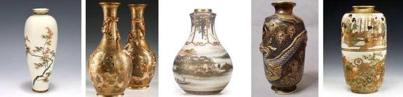 сацума вазы 19 в