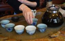 Moychay tea tasting aged ripe puer from the collection of tea culture club puer shu 80 10