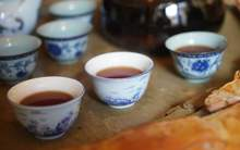Moychay tea tasting aged ripe puer from the collection of tea culture club puer shu 80 15